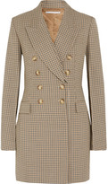 Stella McCartney Double-breasted Checked Wool Blazer - Beige