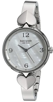 Kate Spade Hollis Stainless Steel Bangle Watch - KSW1562 (Silver) Watches