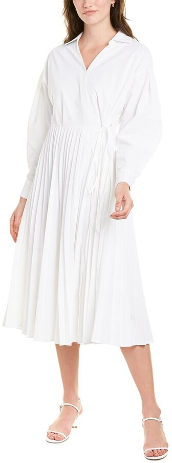 Thumbnail for your product : Gracia Pleated Wrap Dress