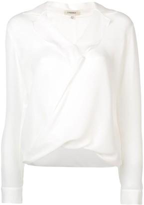 L'Agence draped V-neck blouse