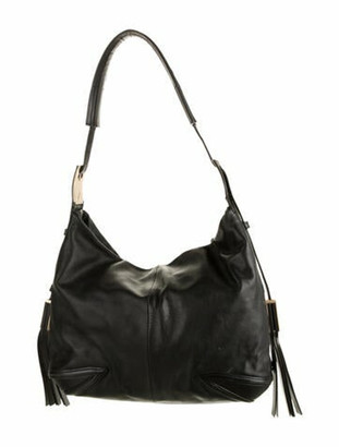 Brian Atwood Leather Hobo Bag Black