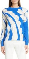 St. John Artisanal Paisley Intarsia Cashmere Sweater