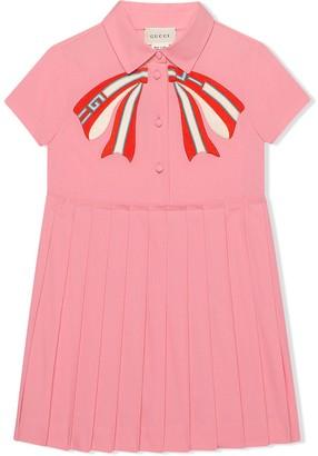 Gucci Kids Children's poplin dress with bow