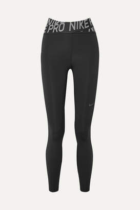 Nike Pro Intertwist Cutout Mesh-trimmed Dri-fit Stretch Leggings - Black