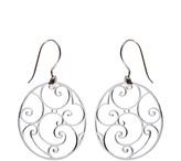 Fleur d' Orleans Cabildo Wrought Iron Earrings