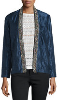 Isabel Marant Bead-Embellished Quilted Cotton/Silk Jacket, Midnight