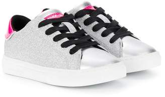 Crime London Kids Beat glitter low-top sneakers