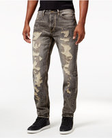 Sean John Men's Destructed Mercer Slim-Straight Jeans
