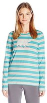 Hatley Little Blue House by Women's Lbh Long Sleeve Tee-Bearly Sleeping Pyjama Top