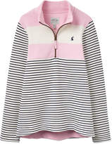 Joules Stripe Cotton Sweatshirt - Pink, Size 7-8