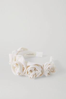 Jennifer Behr Rosette Silk-faille Headband - Ivory