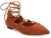 Callisto Women's 'Rian' Ghillie Lace Pointy Toe Flat