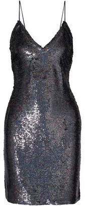 IRO Noret Open-back Sequined Crepe Mini Slip Dress
