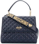 Love Moschino flap closure quilted tote