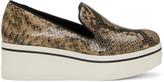 Stella McCartney Brown Snake Binx Platform Sneakers