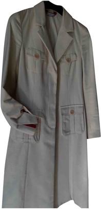 Anna Molinari Beige Cotton Coat for Women