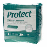 Medline Protect Extra Protective Underwear Moderate X-Large White