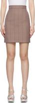 MSGM Multicolor Check Miniskirt