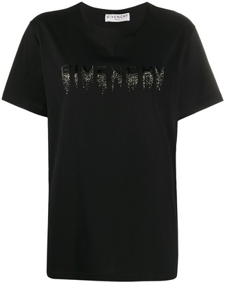 Givenchy Faded Embroidered-Logo T-Shirt