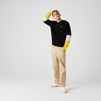 Lacoste Men's Crew Neck Colorblock Cotton Sweater