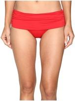 Lauren Ralph Lauren Beach Club Solids Wide Shirred Banded Hipster Bottom