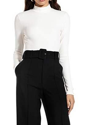 Ivy Revel DE Women's Long Sleeve Rib Top Turtleneck,XX-Small