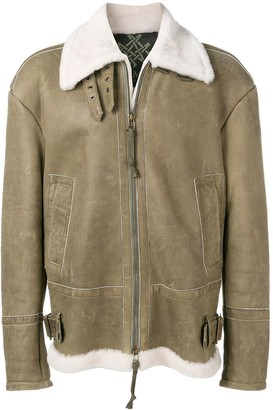 Mr & Mrs Italy Fur Aviator Jacket