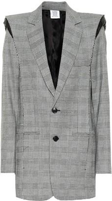Vetements Checked wool-blend blazer