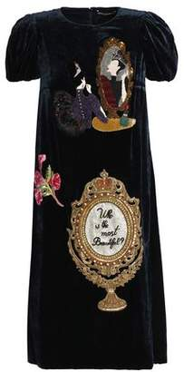 Dolce & Gabbana Appliqued Velvet Dress
