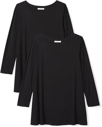 Daily Ritual Amazon Brand Women's Jersey 3/4-Sleeve Bateau-Neck Swing T-Shirt