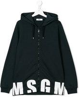 MSGM logo printed hoodie