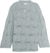 See by Chloe Open-knit Wool-blend Sweater - Gray