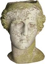 Orlandi Statuary 14 Venus Head Planter, White Moss