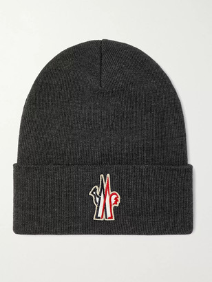 MONCLER GRENOBLE Logo-Appliqued Virgin Wool Beanie