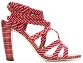 Jimmy Choo Trix 100 sandals - women - Leather/Suede - 36.5