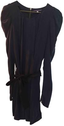 La Petite Francaise Navy Cotton Dress for Women