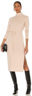 Vince Long Sleeve Turtleneck Dress