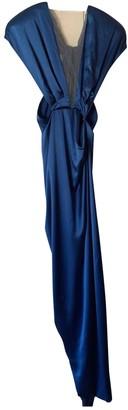 Julien Macdonald Julien Mac Donald Blue Silk Dress for Women