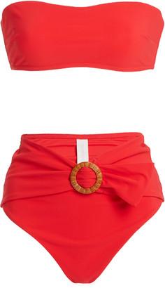 Zimmermann Women's Riders Buckle Waist Bikini - Red - Moda Operandi
