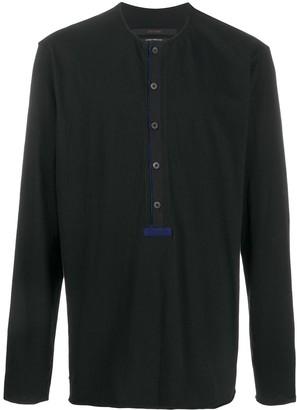 Ziggy Chen button-placket long-sleeve T-shirt