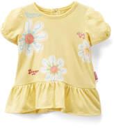 Children's Apparel Network Yellow 'Big Bigger Biggest' Peplum Top - Infant