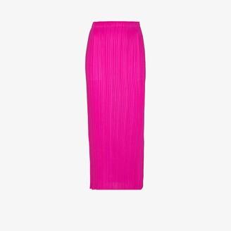 Pleats Please Issey Miyake New Colourful Basics plisse midi skirt