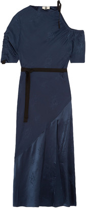 Topshop Lambeth Cutout Silk-jacquard Midi Dress
