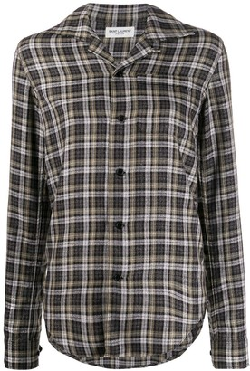 Saint Laurent Long Sleeves Checked Shirt