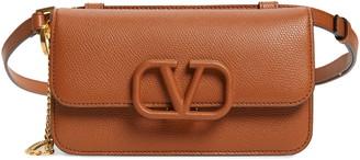 Valentino Garavani V-Sling Leather Belt Bag