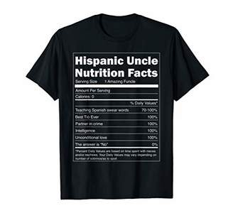 Regalo Mens para Tio - Hispanic Uncle Nutrition Facts Spanish T-Shirt