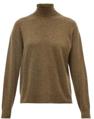 Officine Generale Alma Cashmere Roll-neck Sweater - Womens - Green