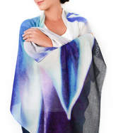Lenox Lincoln + Womens Printed Cashmere Silk Scarf, Agave