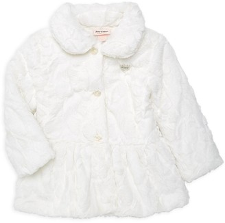 Juicy Couture Little Girl's Faux Fur Peplum Jacket