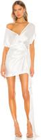 Mason by Michelle Mason x REVOLVE Wide Neck Wrap Mini Dress